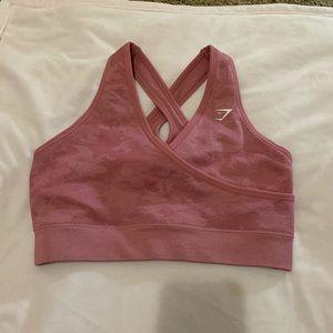 NWOT Gymshark pink camo bra